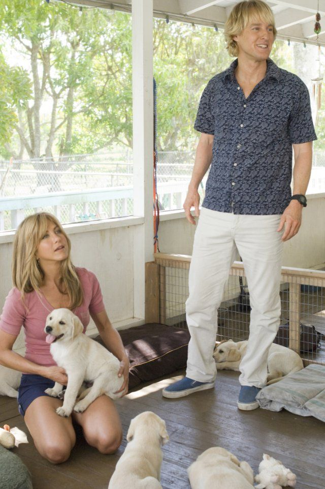 Jennifer Aniston and Owen Wilson in Marley & Me