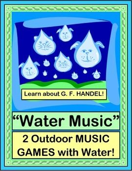 """MAKE MUSIC with WATER! Create a funny POEM with water sounds. Then compose a """"Water Symphony"""" with HIGH-LOW SOUNDS! Cups, Glasses, Marbles, and Chopsticks are all you need. Learn a Friendship Story about why Handel wrote his famous """"Water Music"""". Make a CRAFT and listen to this energetic music while you play! (8 pages) From Joyful Noises Express TpT! $"""