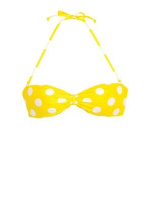 bikini She wore a yellow polka dot