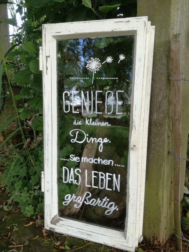 Garten Deko – Sprüche Fenster