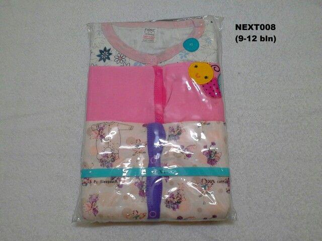 #Sleepsuit Next (NEXT008) ~ 130ribu ~ Ukuran : 12M. Untuk umur : 9-12 bln. Panjang badan bayi 74-80cm (9.5-11kg) ~ Sleepsuit Next ini terdiri dari 3 baju dalam 1 paketnya (Lengan panjang & celana panjang tutup kaki yang menyatu)