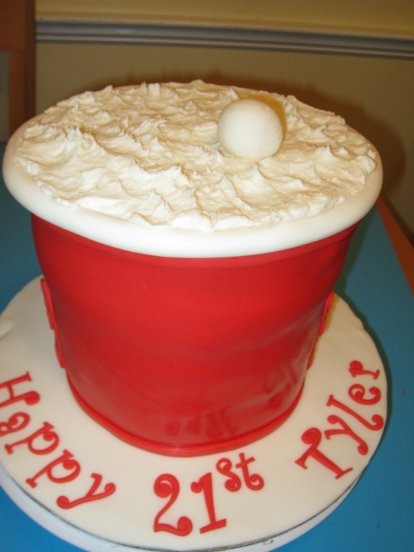 Red Solo Cup Cake