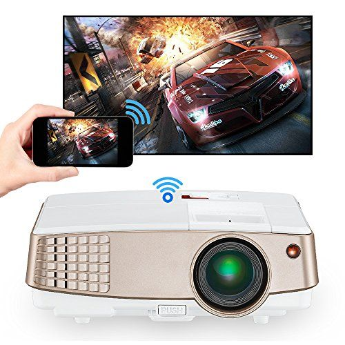 Cheap Portable Projector HD Wireless LED Home Cinema Theater Projector for Apple Iphone Ipad Macbook Android Phone Tablet Laptop PC Bluray DVD Player Gaming Consoles Playstation PS3 PS4 XBOX Wii Roku Firestick HDMI VGA Audio AV Android Beamer deals week