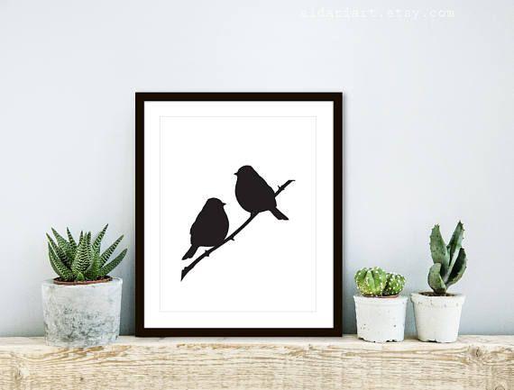 Birds On Branch Print Bird Wall Art Bird Print Perched Etsy Bird Wall Art Bird Art Print Bird Prints