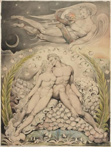 Illustration to Milton's Paradise Lost (1808) by English artist William Blake (1757-1827).