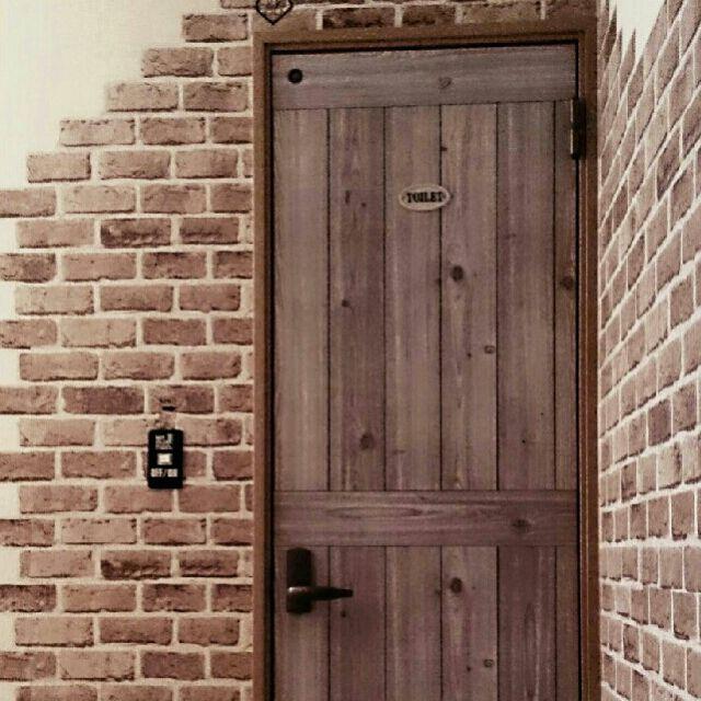 セリアレンガ風リメイクシート/DIY/キャンドゥの板壁風シート/セリア…などのインテリア実例 - 2016-03-14 23:15:55 | RoomClip(ルームクリップ)