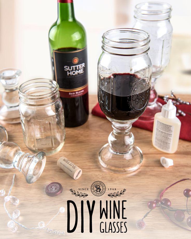 The 25 Best Mason Jar Wine Glass Ideas On Pinterest