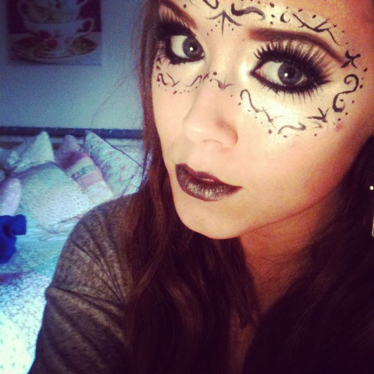 Halloween. Makeup. Bad fairy