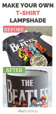 Do you have a favourite t-shirt that you adore, but don't wear? Learn how to make a lampshade out of your beloved shirt using our DIY lampshade kit.