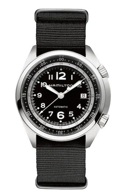 国内正規品ハミルトン カーキパイロットパイオニアオート H76455933 ブラックテキスタイル/ 日本で唯一のハミルトン専門店(ハミルトン社公認)ランド・ホー