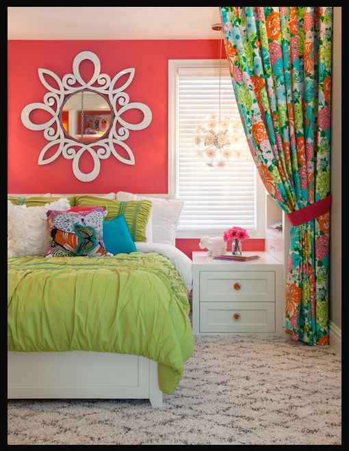 Pretty little girl's room!.... That's my bedding though lol