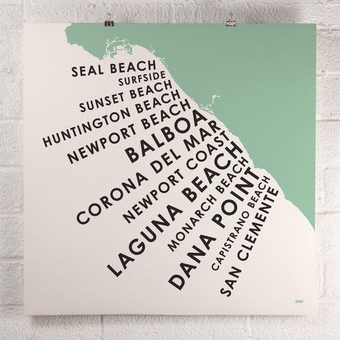 ORANGE & PARK - Orange County Beach Towns print finally someone recognizes Balboa Beach