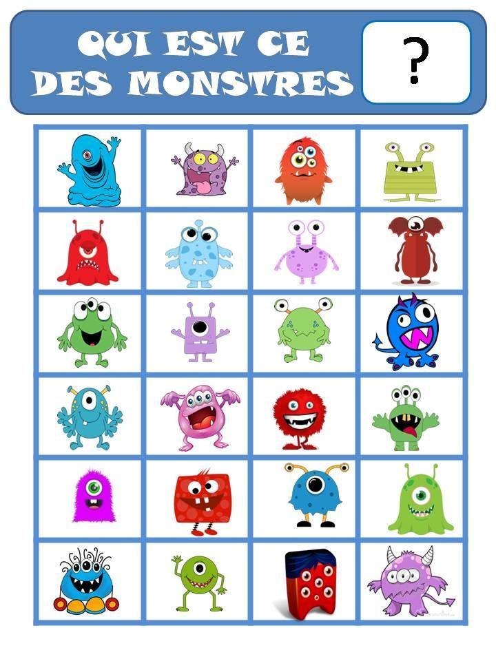 """Résultat de recherche d'images pour """"jeux de monstres maternelle"""""""