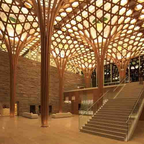 Works | Shigeru Ban Architects  -Reminiscent of the 'bamboo wife' pillow structure, just taken in a different form.
