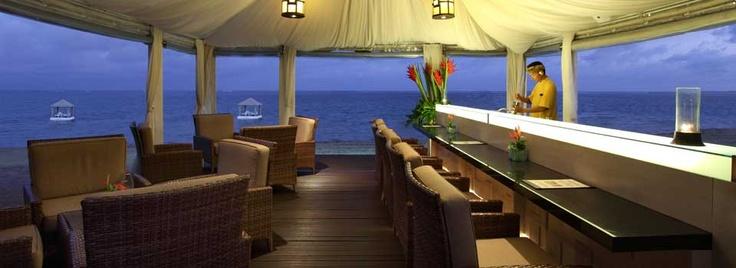 Sanur, Bali - Puri Santrian Resort   Bar by the Sea