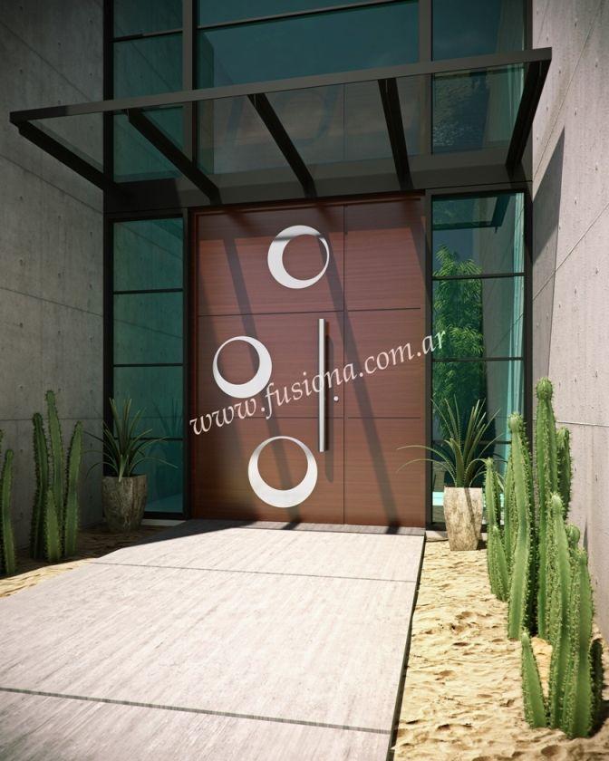 17 mejores ideas sobre puertas de acero en pinterest for Puertas de entrada de madera modernas