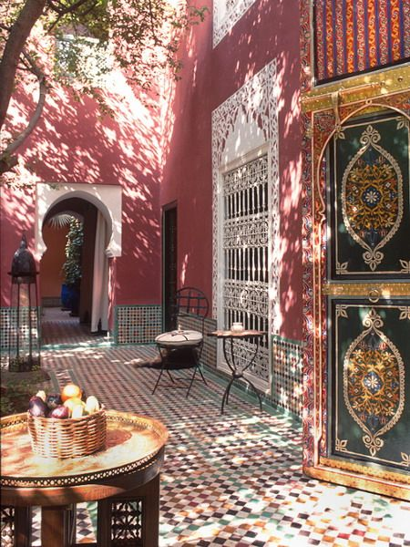 morocco courtyards and patio inspiration picture: Travel Photos, Beautiful, Riad Kaiss, Marrakech Morocco, Moroccan Style, Places, Africa Travel, Sun Dapple Courtyards, Inspiration Design
