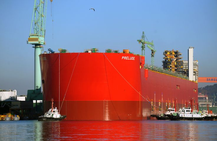 Samsung Heavy Industry - Prelude FLNG (Floating Liquid Natural Gas) is the largest LNG ever built.
