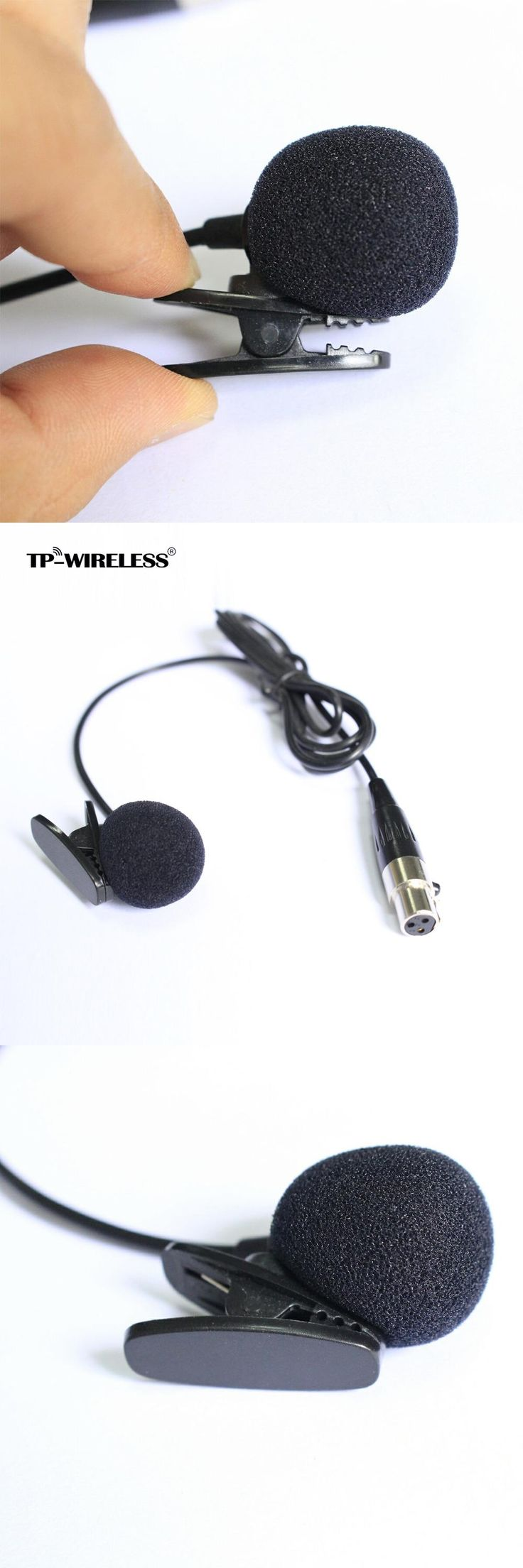 Top Quality Cardioid Lapel Tie Clip-on Lavalier Condenser Microphone XLR 3PIN free shipping
