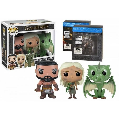 Funko Pop! Khal, Khaleesi & Rhaegal, HBO Exclusive, Game of Thrones, HBO, GOT, Funkomania, Séries
