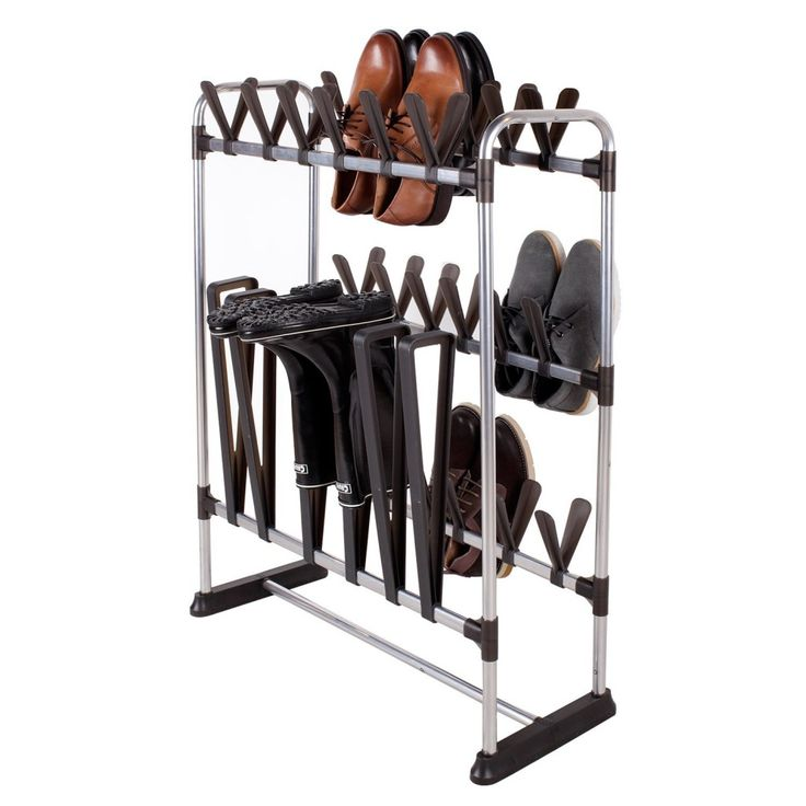 Mind Reader 3 Pair Boot Rack Organizer Stand For Riding Boot s, Rain Boot s, Shoes and Keeps Boot s in Shape, Black Add To Cart There is a problem adding to cart.