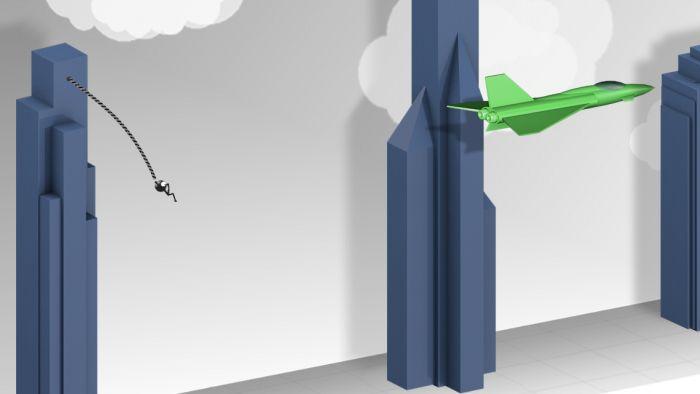 Возьмите веревку и качели через высоты самого престижного города по всему земному шару ! Нажмите или нажмите на объект за один раз , чтобы бросить веревку и качели , а затем нажмите снова, чтобы отпустить веревку и летать по воздуху . Быстрый темп игры , реалистичная физика для игрока, веревки и все объекты , а также великолепная графика делают Fly With Rope очень захватывающая игра .  Источник: http://games-topic.com/117-fly-with-rope.html