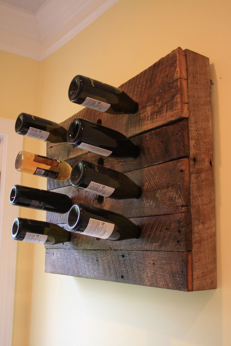 This is a 16 bottle wine holder made from a barn built in 1897 in Denver, Pa.The wood is reclaimed lumber so it has a lot of character. The wood still has the s