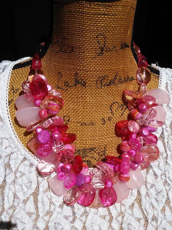 Pink Petal verklaring ketting vette dikke ketting verklaring