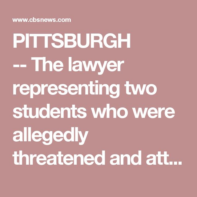PITTSBURGH -- The lawyer representing two students who were allegedly threatened and attacked in school released new video Tuesday of a third alleged incident.  Civil rights attorney Todd Hollis claims the videos provide more evidence of a clear pattern of abuse targeting black students in Woodland Hills School District, CBS Pittsburgh reports.