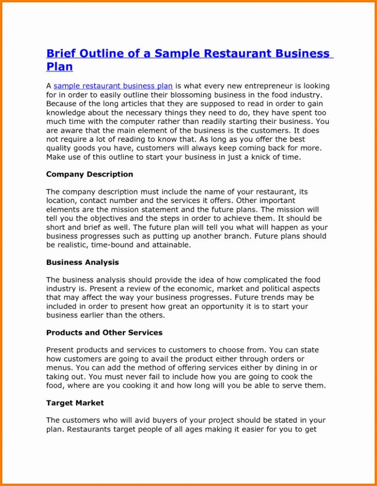 Feasibility Study For Restaurant Business Pdf Plan Swot