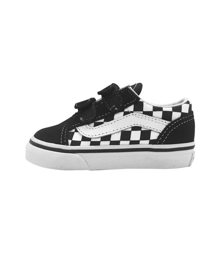 Vans Old Skool Toddler Primary Check Black/White, Kids Footwear, www.oishi-m.com
