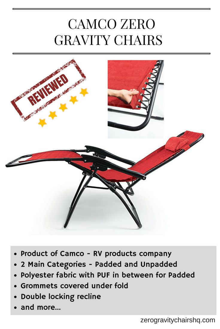 Furniture amp accessories 26 quot camo padded folding anti gravity chair -  Review Camco Zero Gravity Chairs Product Of Camco Rv Products Company