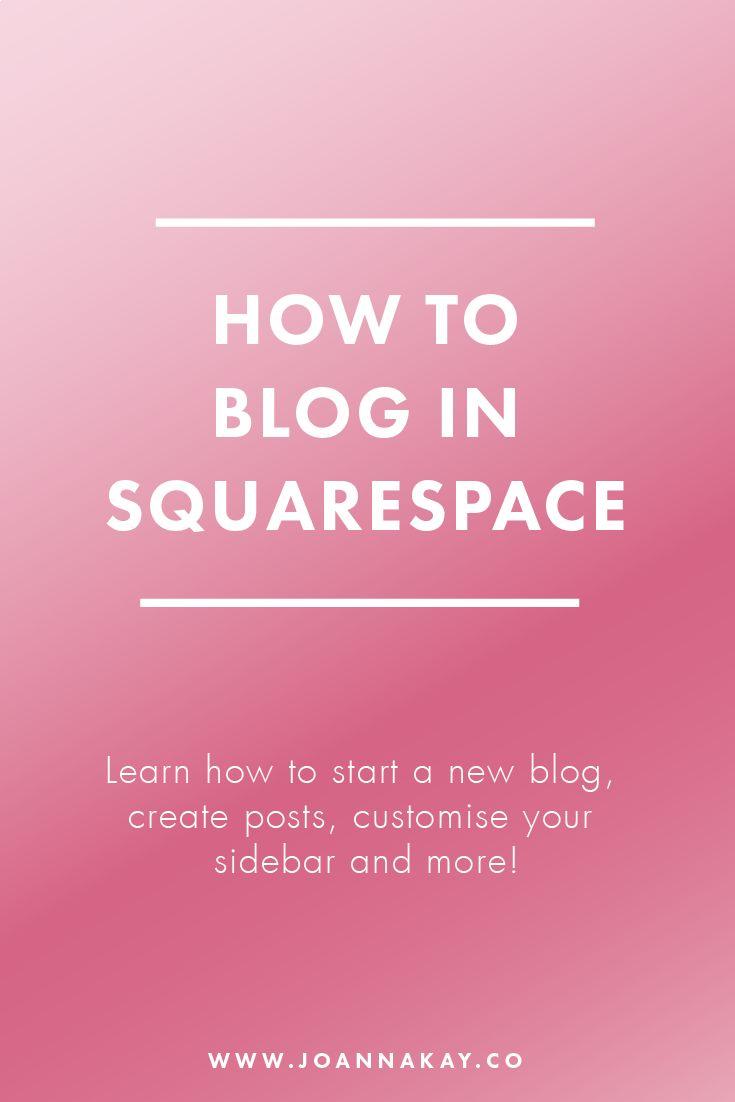 blog start squarespace