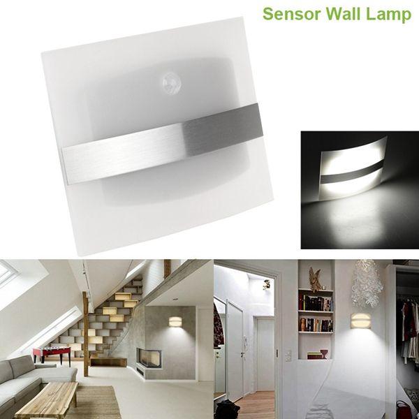 Wireless Motion Sensor Led Wall Light Battery Operated