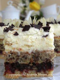 Długo zastanawiałam się jak nazwać to ciasto….Nic lepszego nie wymyśliłam…NIESAMOWITE… Połączenie smaku orzechów, powideł śliwkowych, serk...