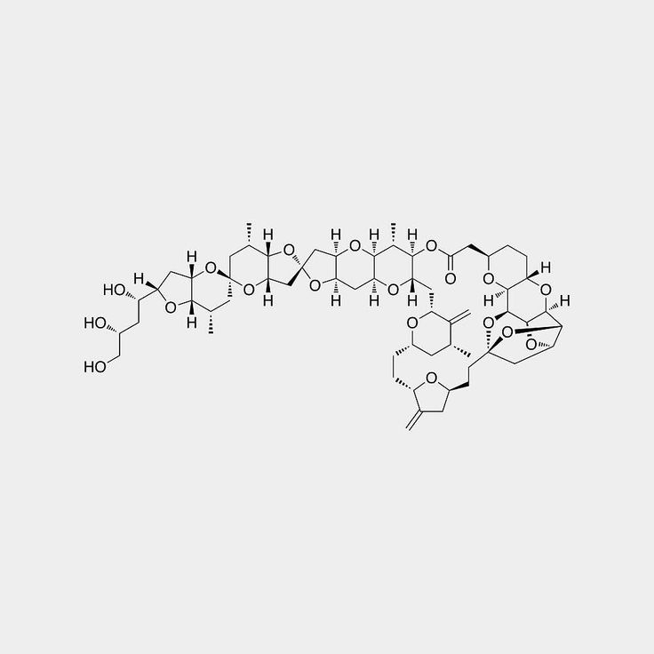 Halichondrin B is a large naturally occurring polyether macrolide originally isolated from the marine sponge Halichondria okadai by Hirata and Uemura in 1986. In the same report these authors also reported the exquisite anticancer activity of halichondrin B against murine cancer cells both in culture and in in vivo studies.  #anticancer #HalichondrinB #sponge #chemistry #moleculeoftheday #chemist #science #scientist #chemist #molecule  #staynerdy #stereochemistry