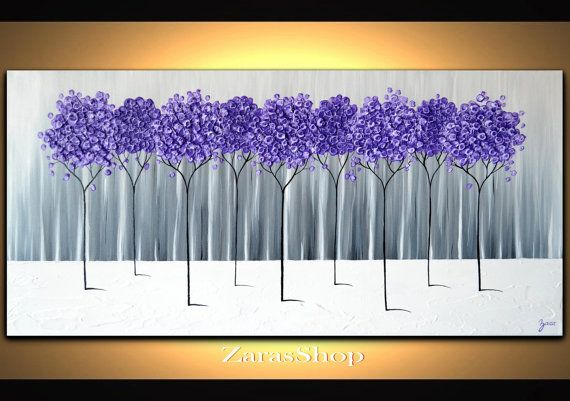This incredible purple lavender abstract tree painting will easily become the showpiece in your space and will never go out of style. This home office