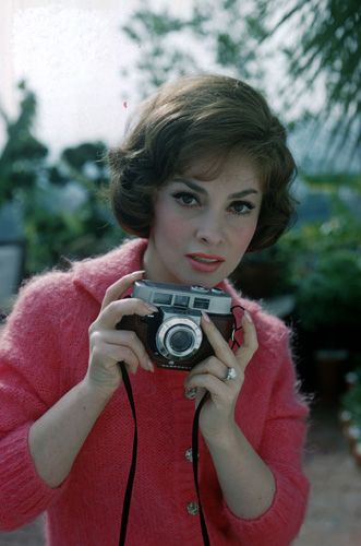Gina Lollobrigida with Camera