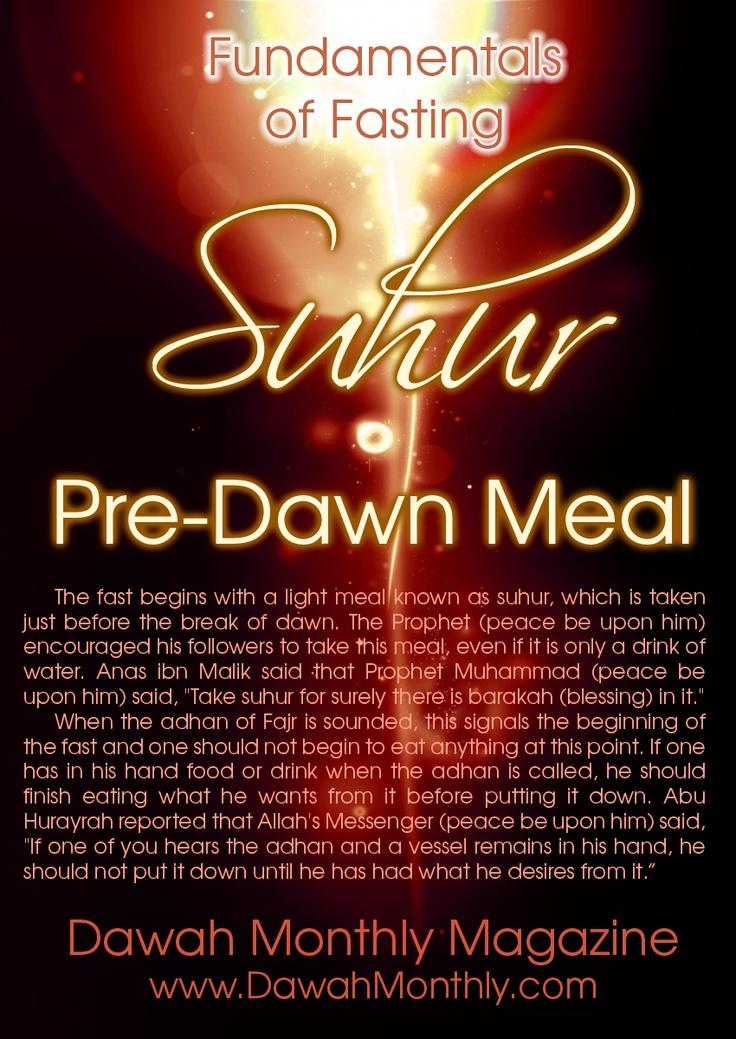 Suhur - Pre-Dawn Meal