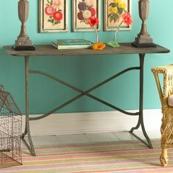 Antiqued Metal Garden Table