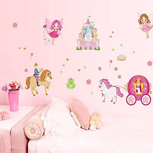 Ufengke cuentos de hadas pr ncipe princesa castillo ngel for Pegatinas habitacion infantil