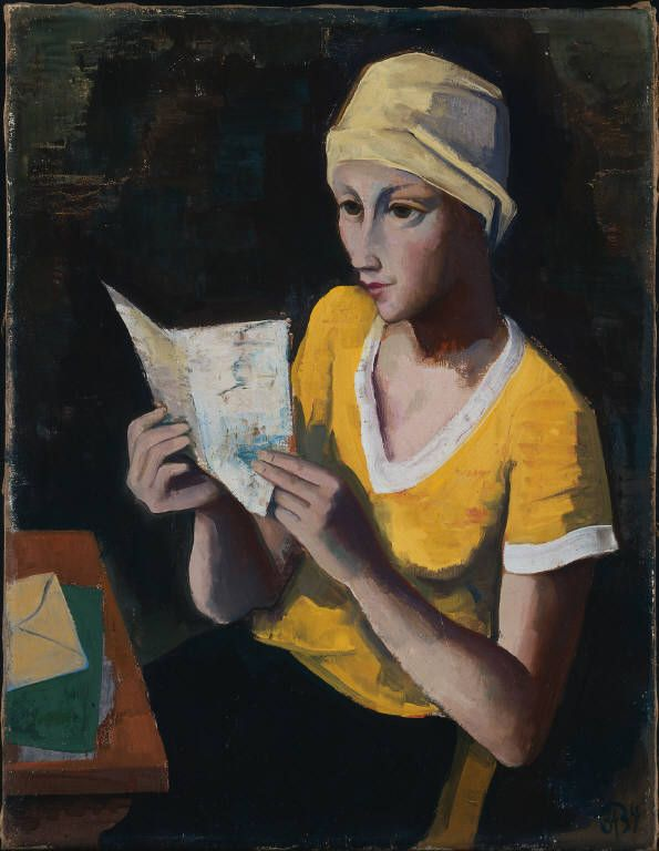 Girl with Letter, 1934 - by Karl Hofer (1878 – 1955), Germany