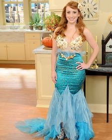 Mermaid Costume | Step-by-Step | DIY Craft How To's and Instructions| Martha Stewart - I want to make this one day! before I get too old!!! lol