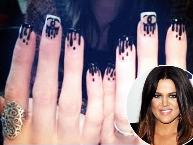 Celebrity Nails Khloe Kardashian - 74 Best Celebrity Nails Images On Pinterest Celebrity Nails