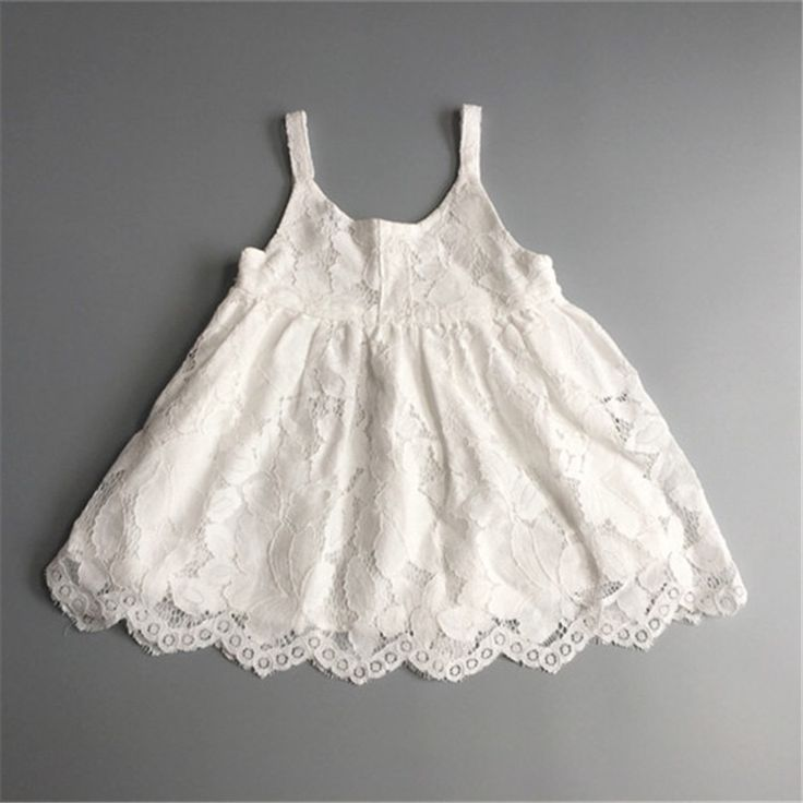 GL1026WH  2016/17 AW Trendy Girl's Fashion Vintage Allover Lace Girl Dress (White)