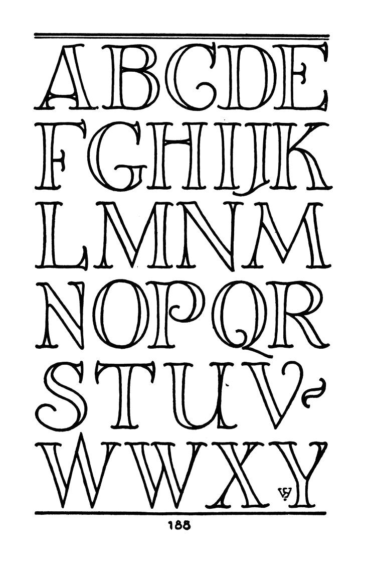 Easy Fonts To Draw By Hand Alphabet ... | Lettering ...