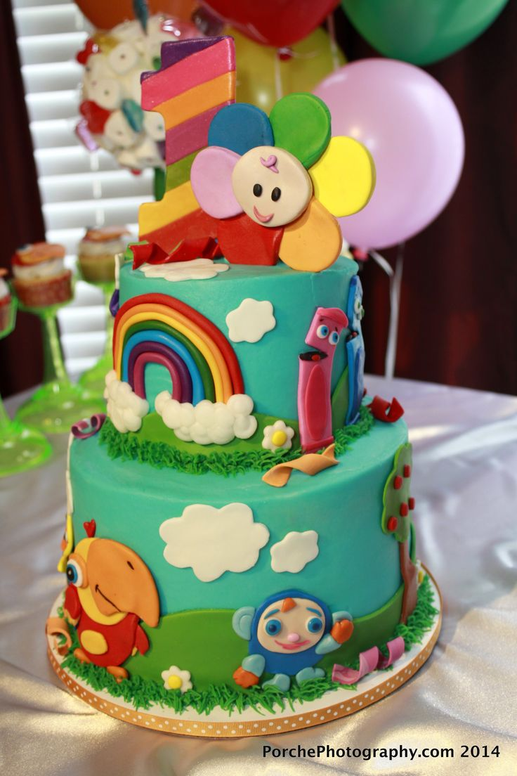 baby birthday birthday cakes baby first tv birthday party ideas cake ...