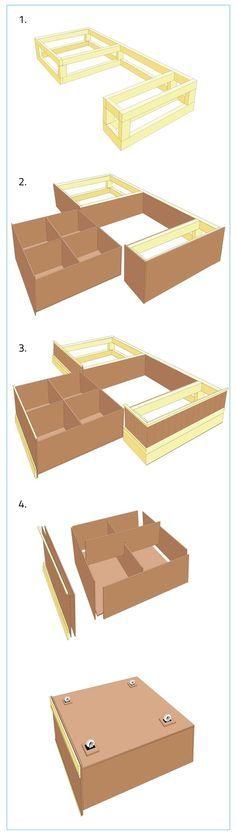 Bygga platsbyggd säng med förvaring