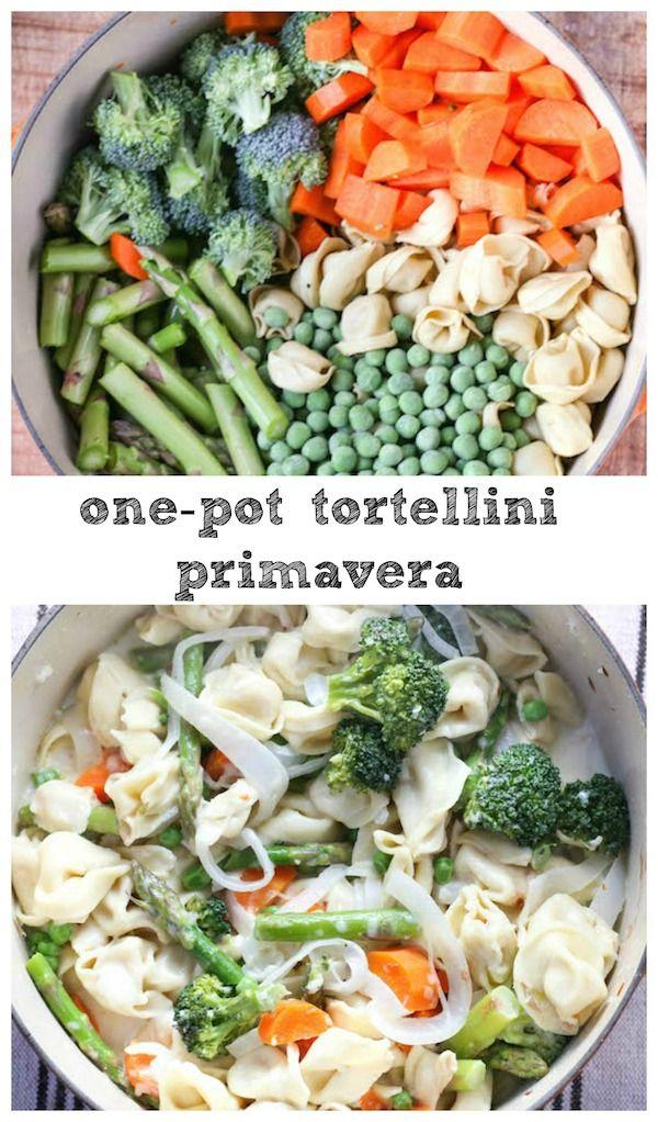 One Pot Tortellini Primavera