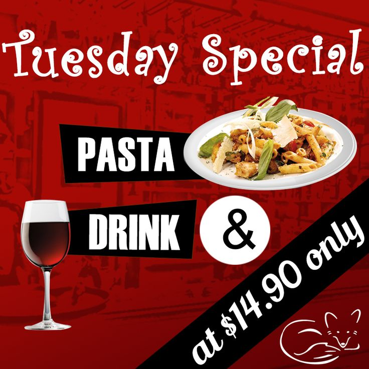 """Every Tuesday is a """"Tuesday Special"""" at Red Fox Restaurant. We heartily welcome you all to enjoy this special offer.  #RedFoxRestaurant #TuesdaySpecial #Pasta #Drink #EatGood #Dessert #Foodporn #TagForLikes"""